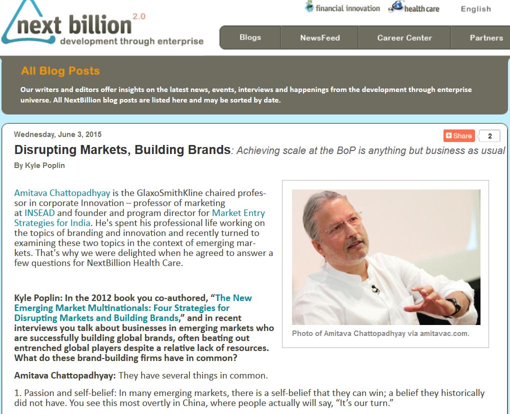 Coverage at Next Billion: Development Through Enterprise